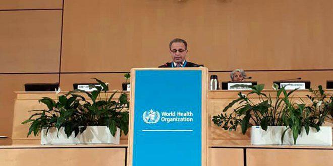 Глава минздра САР на сессии Всемирной ассамблеи здравоохранения рассказал о приоритетах правительства