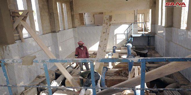 В провинции Дараа восстановлены 7 насосных станций
