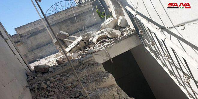 Боевики вновь подвергли обстрелу город Скальбия в провинции Хама