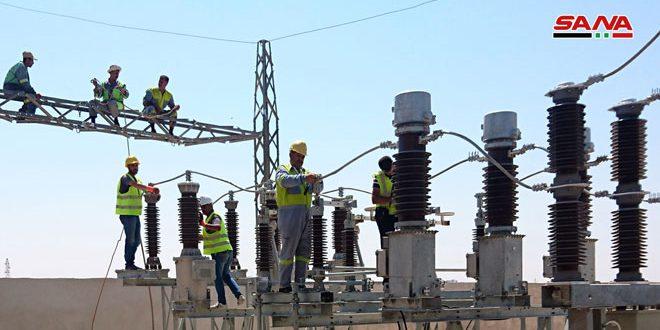 На северо-западе Алеппо на 90 % завершены работы по восстановлению электроподстанции Нубль