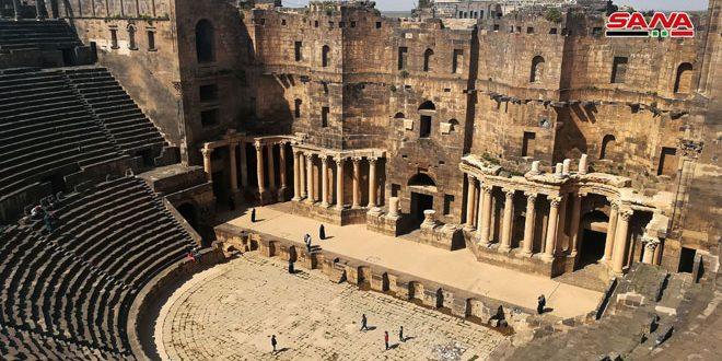 Оценен ущерб, нанесенный террористами древнему городу Босра Аш-Шам в провинции Дараа