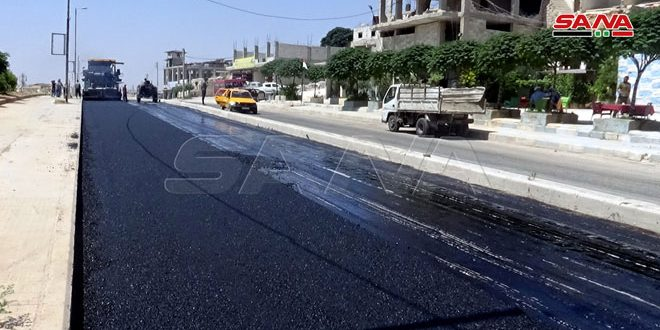 В городе Алеппо продолжаются работы по техническому обслуживанию и асфальтированию дорог