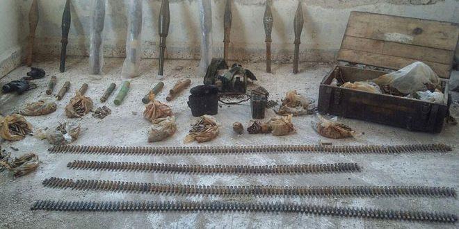 В провинции Хама обнаружена партия оружия и боеприпасов, оставленных террористами