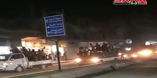 Жители Ракки приветствуют вступление Сирийской Арабской армии в районы провинции