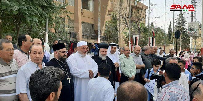 Общественность провинции Хасаке: Сирийская Арабская армия является гарантом безопасности Сирии