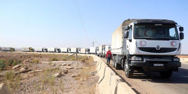 Жителям двух н.п. на востоке провинции Дараа доставлена продовольственная помощь