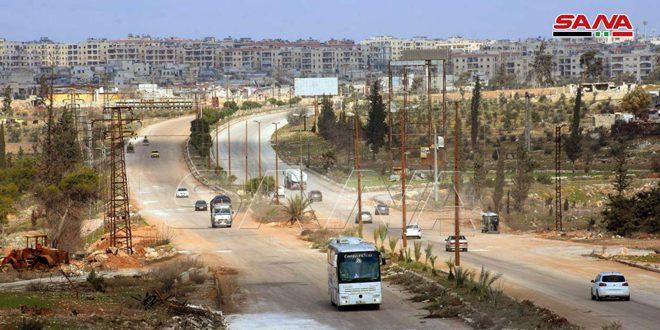 Министерство транспорта САР: Возобновлено движение по автостраде Дамаск – Алеппо