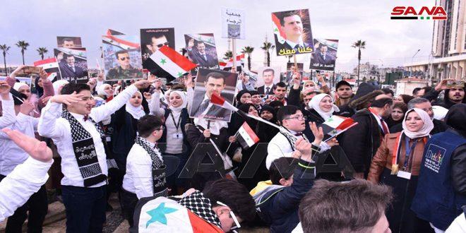 В Алеппо отметили победу над терроризмом