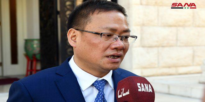 Посол КНР в Дамаске: Мы благодарим Сирию за её поддержку в борьбе с коронавирусом