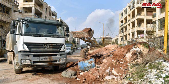 В Алеппо продолжается расчистка дорог и улиц