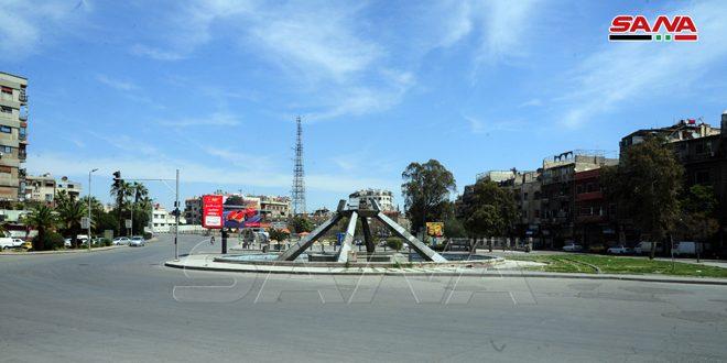 Безлюдные улицы во время комендантского часа в Сирии