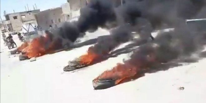 В Хасаке жители вновь вышли на демонстрации в знак протеста против произвола группировок «Касад»