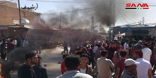 В Хасаке протестуют против произвола боевиков «Касад»