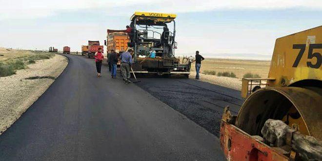 Завершен ремонт дороги Хомс — Тадмор