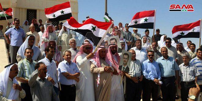 Члены племен в провинции Ракка выразили поддержку любому сопротивлению по освобождению Сирии от оккупантов
