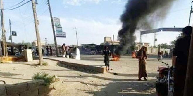 В провинции Дейр-эз-Зор прокатилась волна народных протестов против американских оккупантов и их наемников
