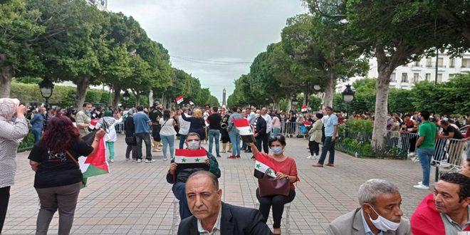 В Тунисе прошла акция солидарности с Сирией