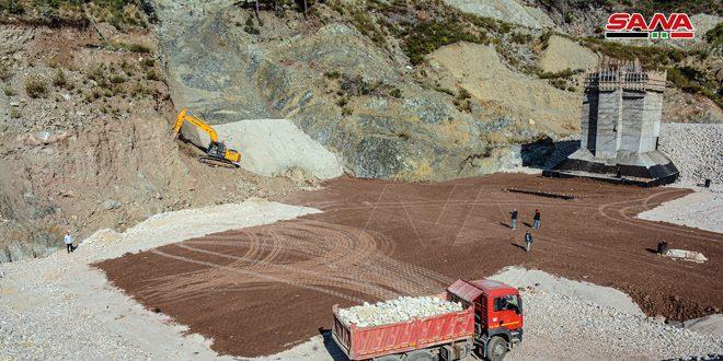 В провинции Латакия продолжается строительство водозаборной плотины Факи-Хасан
