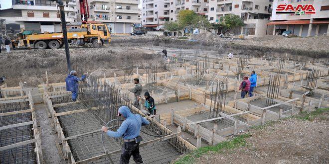 Строительство начальной школы в квартале Скубин города Латакия