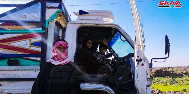Более 40 семей вернулись в селение Ибб на севере провинции Дараа
