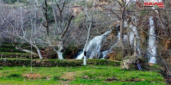 Водопад Аз-Зави в районе Масьяф (фото)