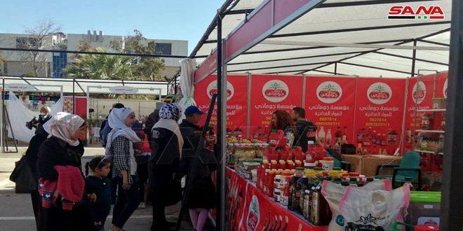 В Дамаске открылась ярмарка продуктов питания и одежды
