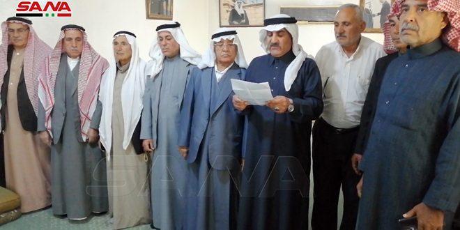 Старейшины племени Тай осудили преступления группировок «Касад» против жителей города Эль-Камышлы