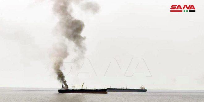 На нефтяном танкере в бухте порта Баньяс произошло небольшое возгорание