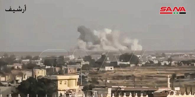 Террористы обстреляли поселок Тель-Манас в провинции Идлеб