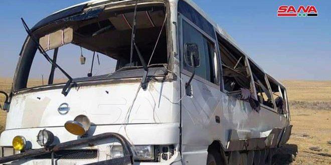 В провинции Хама к востоку от Саламии при взрыве мины есть погибшие и раненые