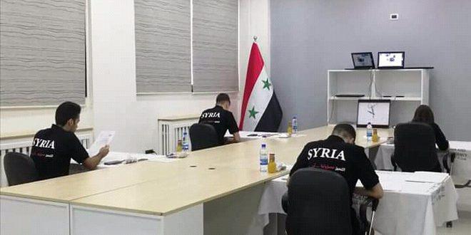 Команда Сирии принимает участие в Международной химической олимпиаде