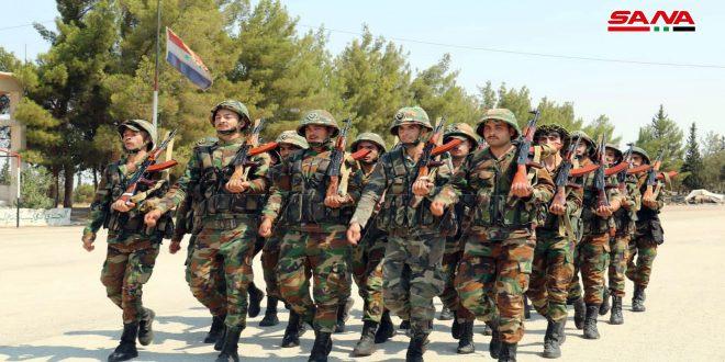 Военнослужащие по случаю 76-й годовщины основания Сирийской армии поздравили страну и ее президента