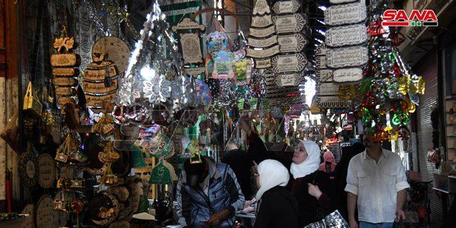 Рынок Аль-Бзурия в Дамаске в преддверии праздника Дня рождения Пророка Мухаммада (фото)