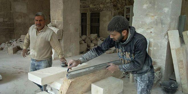 Halep'te Büyük Emeviler Camini onarmada sanat, ulusallık ve zorluklara meydan okuma özellileri birbiriyle harmanlandı