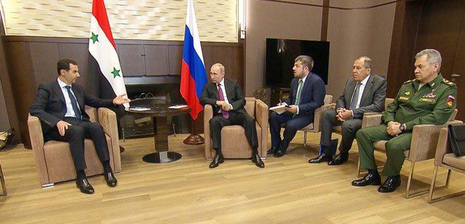 Liderler el Esad ve Putin Rusya'nın Soçi Kentinde zirve toplantısında bulundular