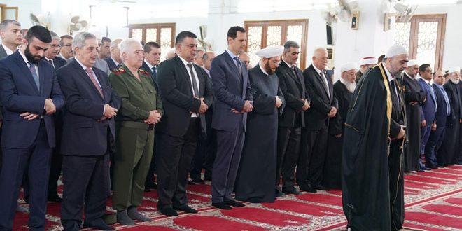 El Esad Bayram Namazını Tartus'ta Halk Kitleleri ile Birlikte Kıldı