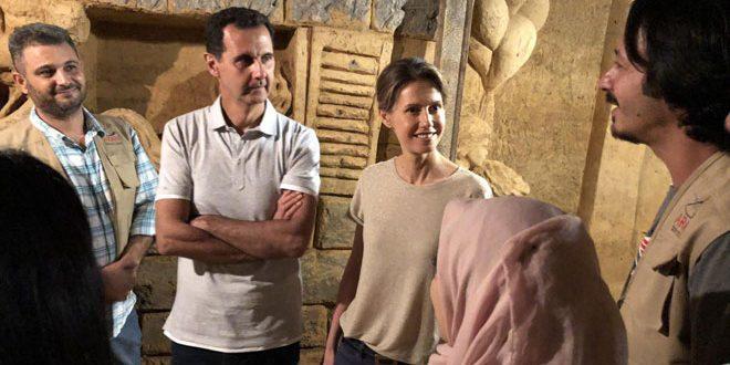 El Esad ve Esma Hanım Cobar Bölgesinde Sanat Müzesine Dönüştürülen Tüneli Ziyaret Ettiler