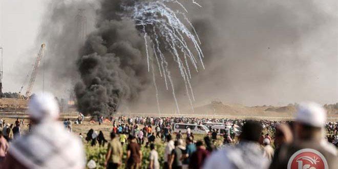 Gazze'de İşgalci İsrail Kurşunlarıyla 2 Şehit 270'ten Fazla Yaralı