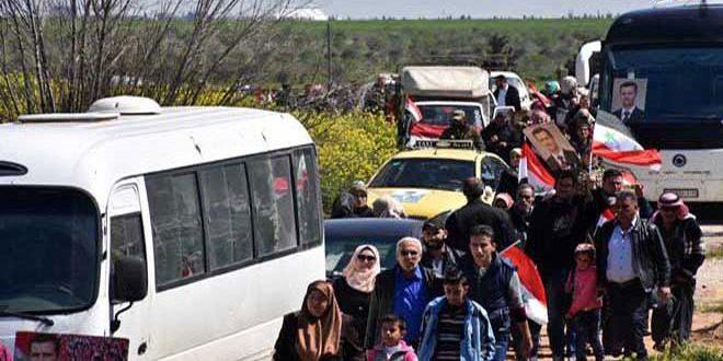 Yüzlerce Doğu Buvayda Ahalisi Homs Ksayr Kırsalındaki Köylerine Geri Döndüler