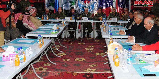 Rukban Kampı Trajedisini Sona Erdirmek İçin Devlet Kurumları Temsilcileri, Rusya Uzlaşma Merkezi ve Aşiret Büyükleri Toplantısı