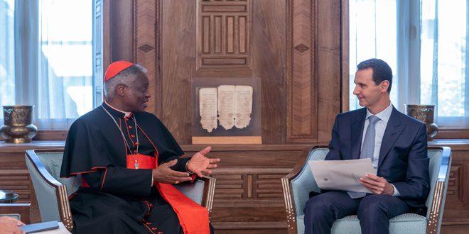 Cumhurbaşkanı el Esad Vatikan Papası Francis'ten yazılı bir mesaj alıyor