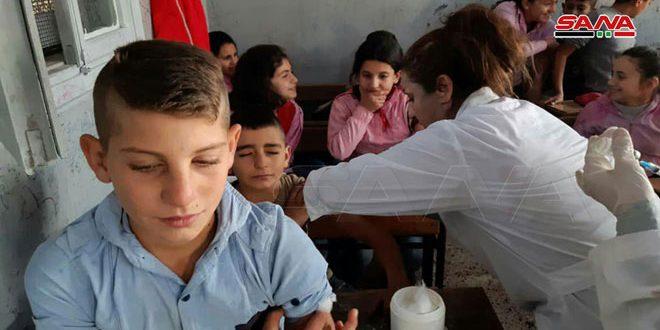 Hama Kırsalında Ulusal Aşı Kampanyası Başlatıldı