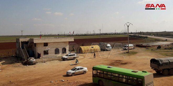Serakib'in Batısında İdlib'ten Çıkan Vatandaşların Güvence Altına Alınması İçin İçin İnsani Geçid Açıldı