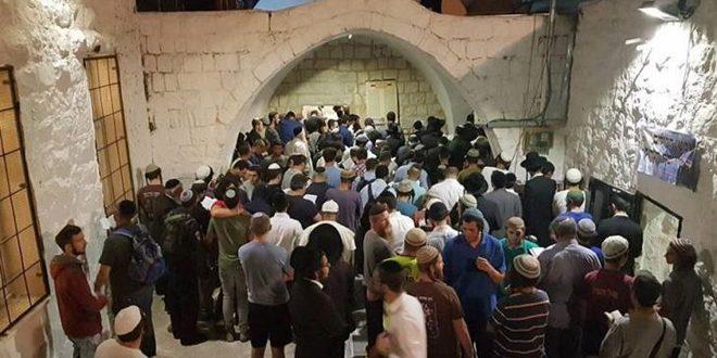 Onlarca İsrailli Yerleşimci Nablus'ta Yusuf Peygamberin Mezarını Bastı