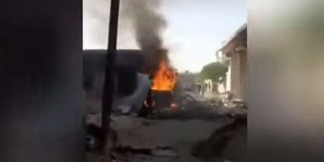 Afrin'de Yaşanan Araç Patlamasıyla Siviller Arasında Yaralılar Oldu