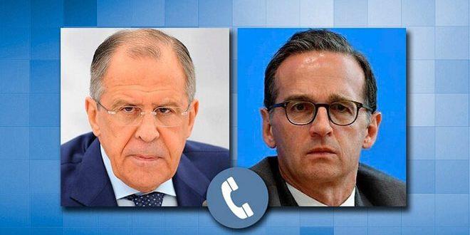 Lavrov, Maas ile Suriye'ye Yönelik Ekonomik Yaptırımları Görüştü