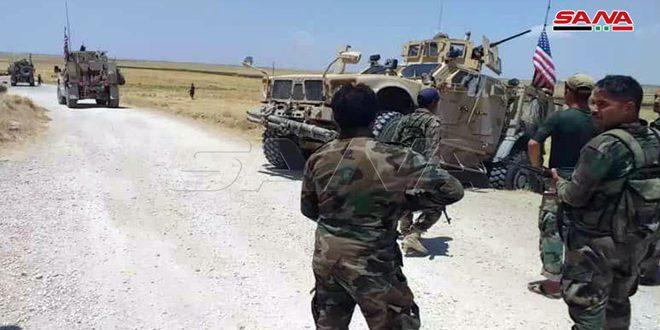 Ordu Birliklerimizin Haseke Kırsalındaki Kontrol Noktaları Amerikan İşgaline Ait Konvoyları Engelledi