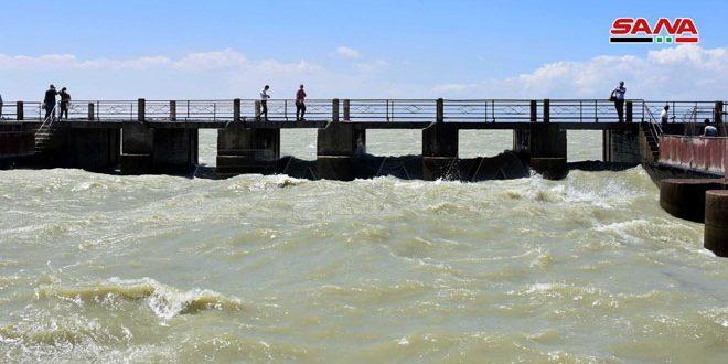 Dokuz Yıl Aradan Sonra Kattine Barajından Sulama Suları Ana Kanalından Akmaya Başladı