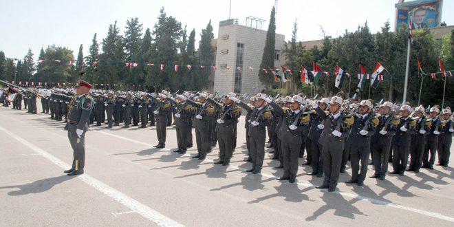 Şam'daki Polis Akademisinde İç Güvenlik Kuvvetleri'nden Yeni Bir Grup Subayı Mezun Oldu