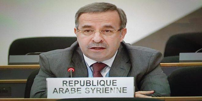 Büyükelçi Ala: İnsan Hakları Konseyi, Tek Taraflı Zorlayıcı İcraatların Suriye Halkının Yaşadığı Zor Gerçekliğin Nedeni Olduğundan Görmezden Geldi